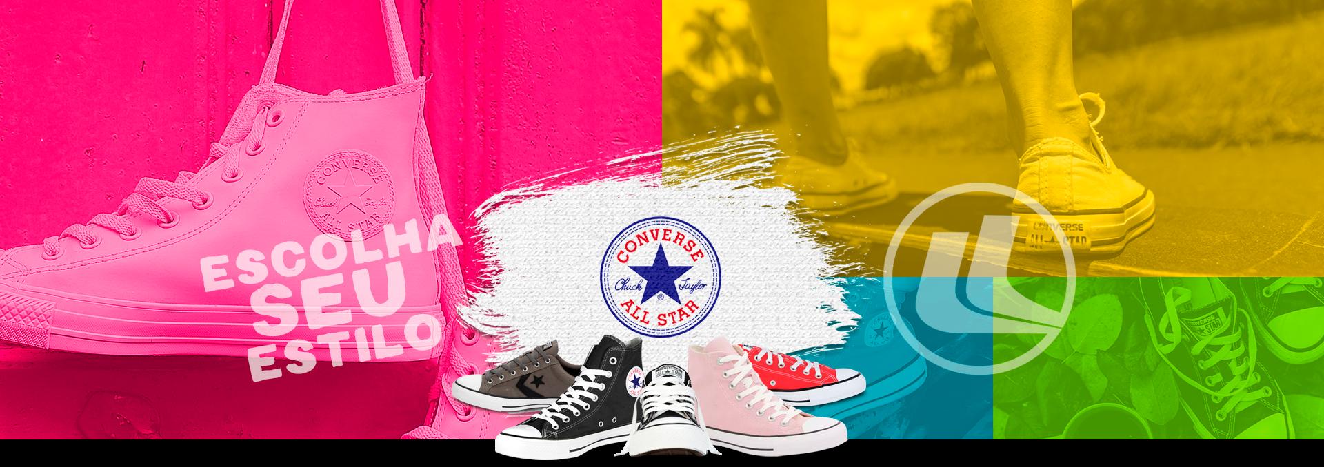 Esporte Legal - Artigos Esportivos - Converse e All Star - Tênis Converse de várias marcas e modelos, linha Casual All Star, As Core, Platform em modelos de Cano alto e baixo