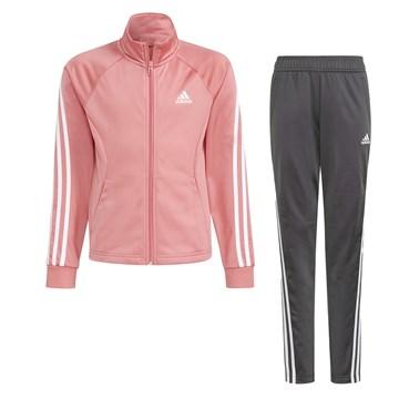 Agasalho Adidas 3-Stripes Team Primegreen Infantil - Rosa e Cinza