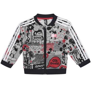 Agasalho Adidas Jogger Mickey Mouse Infantil - Cinza e Preto