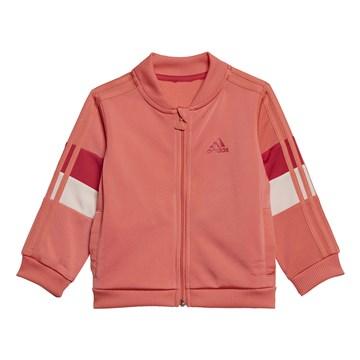 Agasalho Adidas Shiny Infantil - Coral e Rosa