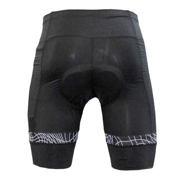 Bermuda Ciclismo Poker Gel Max Comfort C/ Bolso Masculina - Preto