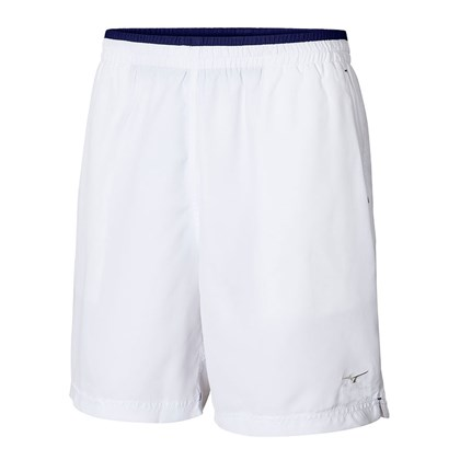 Bermuda Mizuno Master Fitness Masculina - Branco e Azul - Esporte Legal aa2785b695356