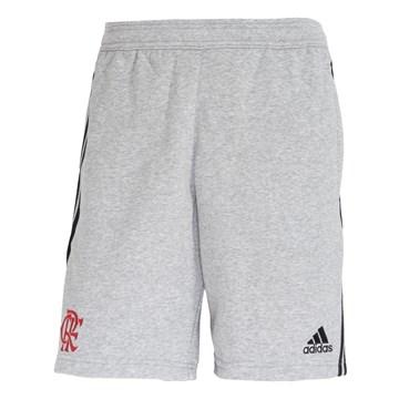 Bermuda Moletom Adidas CR Flamengo Masculino - Cinza