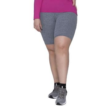 Bermuda Selene Básica Fitness Plus Size Feminina - Cinza