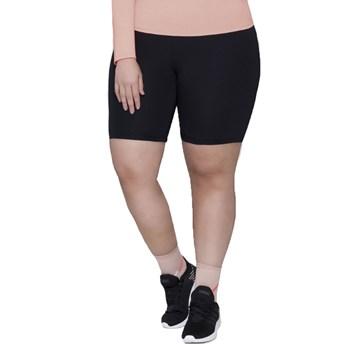 Bermuda Selene Básica Fitness Plus Size Feminina - Preto