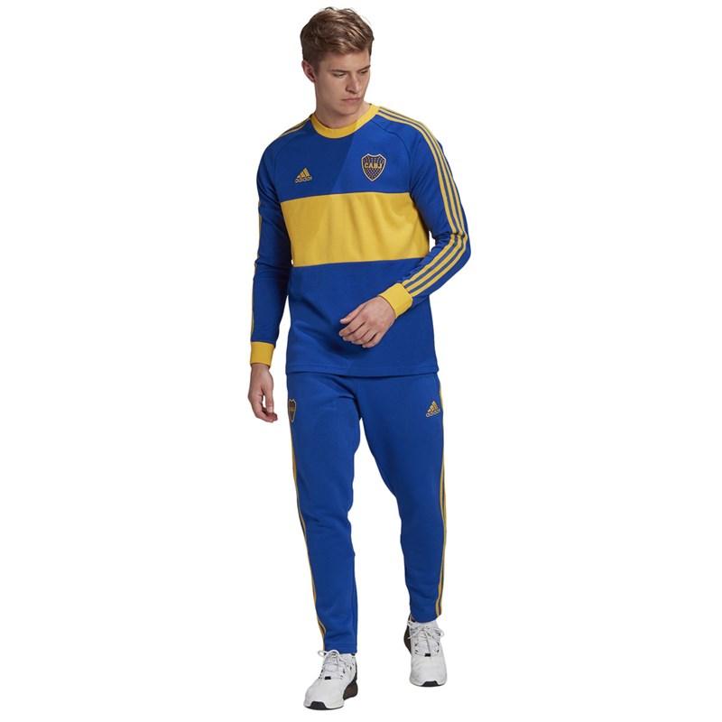 Blusa Adidas Boca Juniors Ícones Masculina - Azul e Amarelo