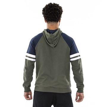 Blusa Moletom Everlast Vintage Com Zíper Masculina - Verde e Azul
