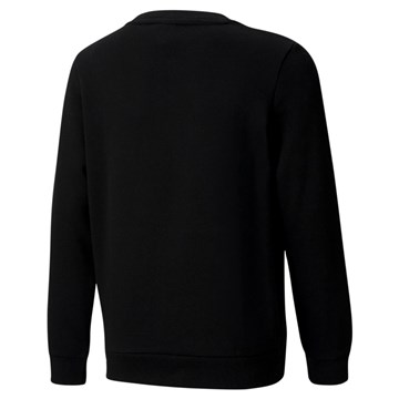 Blusa Moletom Puma Essentials Crew Neck Big Logo Juvenil - Preto