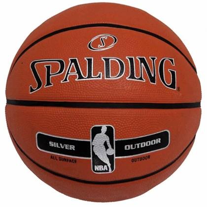 Bola Basquete Spalding Silver NBA Outdoor - EsporteLegal 970af7e1c7932
