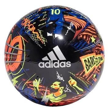 Bola Campo Adidas Messi Club - Preto, Azul e Coral