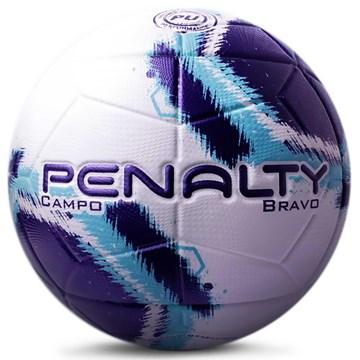 Bola Campo Penalty Bravo XXI - Branco e Roxo