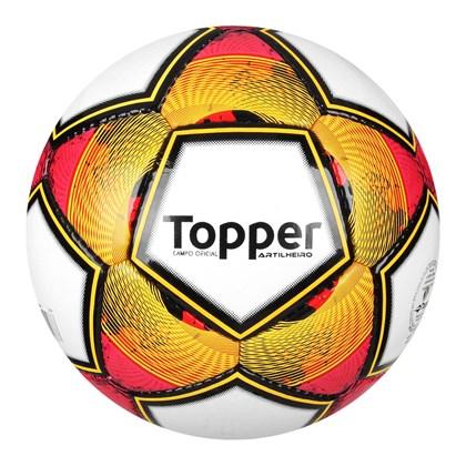 4de686625d818 Bola Campo Topper Artilheiro - Branco e Laranja - Esporte Legal