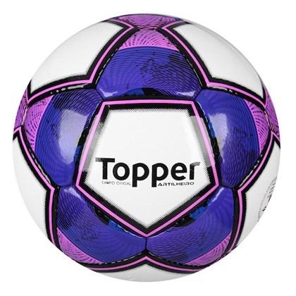 07841eb7b147b Bola Campo Topper Artilheiro - Branco e Roxo - Esporte Legal