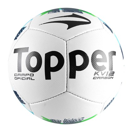 7f8d83e3c927e Bola Campo Topper KV Carbon II - Branco e Verde - Esporte Legal