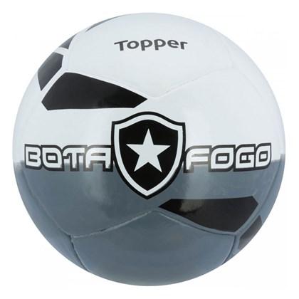 1e5e61c159 Bola de Futebol Campo Topper Botafogo - Branco e Cinza - Esporte Legal