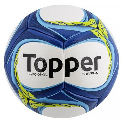 40bf0c4b8ec38 Bola de Futebol Campo Topper Trivela V12 - Branco e Azul - Esporte Legal