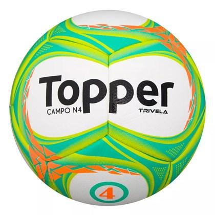 Bola de Futebol Topper Campo Trivela V Nº4 - Branco e Verde ... f0adc5fd068ba