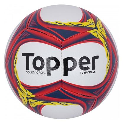 Bola de Futebol Topper Society Trivela V12 - Marinho e Coral ... b83588bf07a58
