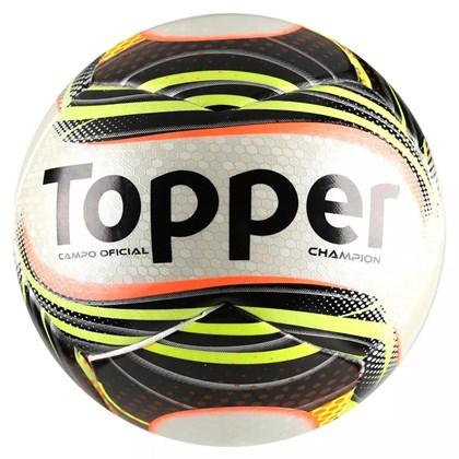 Bola Futebol Campo Topper Champion - Branco e Preto - Esporte Legal 19555a65081ea