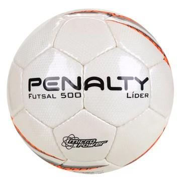 Bola Futsal Penalty Líder X - Branco e Laranja