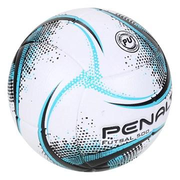 Bola Futsal Penalty RX 500 XXI - Branco, Preto e Azul