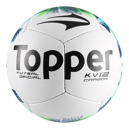 Bola Futsal Topper KV Carbon II - Branco e Verde - Esporte Legal 0b11f4bd1751c