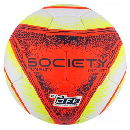 Bola Penalty de Futebol Society Infinity VIII - Branco e Laranja ... 5b4244fee7d47