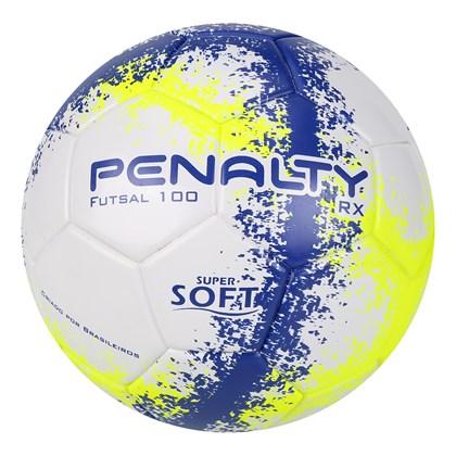 Bola Penalty Futsal RX 100 R3 Fusion 8 sub-11 Azul e Amarelo b8f73a4d54847