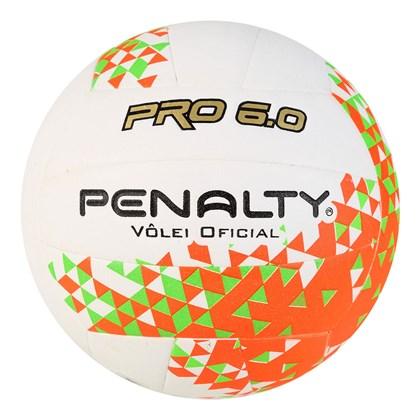 Bola Penalty Vôlei 6.0 Pro VIII - Branco e Laranja - Esporte Legal bdac2e861e2ce