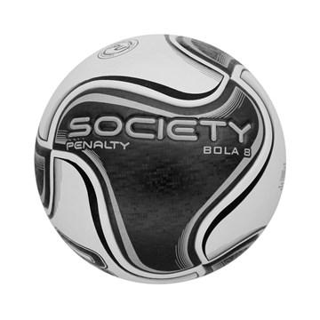 Bola Society Penalty 8 X - Branco e Preto