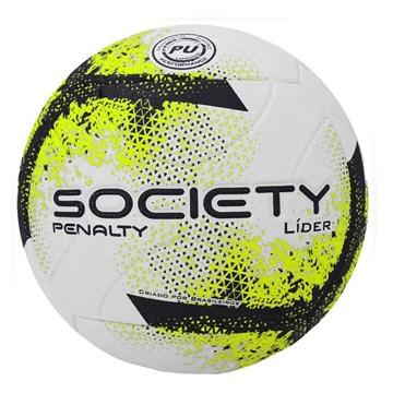 Bola Society Penalty Líder XXI - Branco, Chumbo e Amarelo