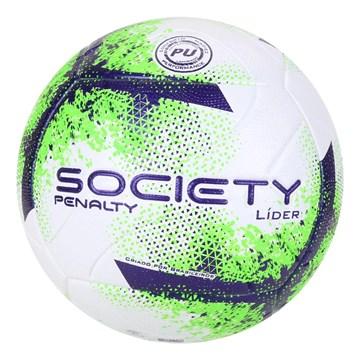 Bola Society Penalty Líder XXI - Branco, Roxo e Verde