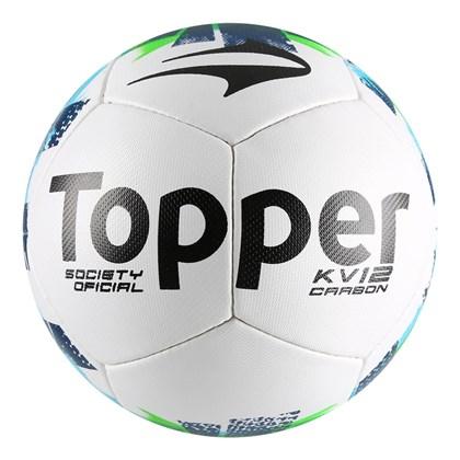 Bola Society Topper KV Carbon II - Branco e Verde - Esporte Legal 2cf18e4febb0c