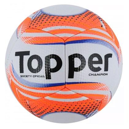 Bola Topper Futebol Society Champion II - Branco e Coral - Esporte Legal 7616f580c41c3