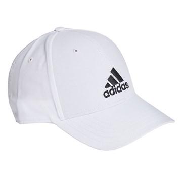Boné Adidas Baseball Logo Bordado - Branco