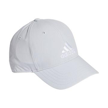 Boné Adidas Baseball Logo Bordado - Cinza