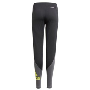 Calça Legging Adidas Designed 2 Move Juvenil - Preto e Cinza