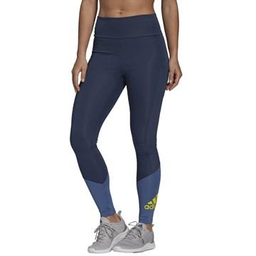 Calça Legging Adidas Designed To Move Big Logo Feminina - Marinho