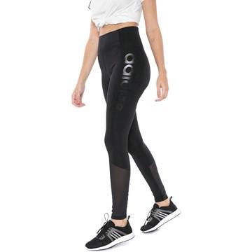 Calça Legging Adidas Logo Design 2 Move Feminina - Preto