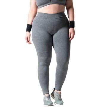 Calça Legging Selene Básica Fitness Plus Size Feminina - Cinza