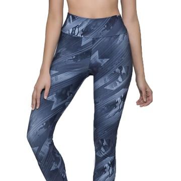 Calça Legging Selene Fitness Feminina - Azul Médio
