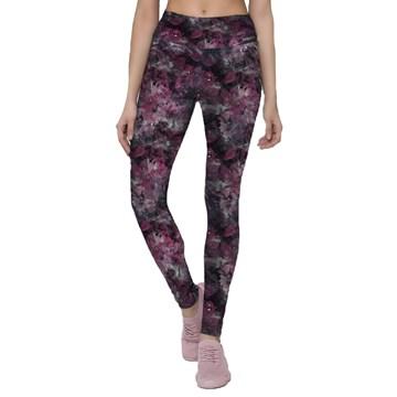 Calça Legging Selene Fitness Feminina - Marsala e Preto