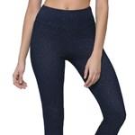 Calça Legging Selene Jeans Com Gliter Feminina - Azul