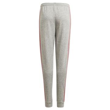 Calça Moletom Adidas Essentials 3-Stripes Infantil - Cinza e Rosa