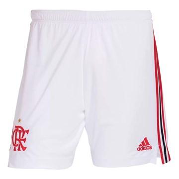 Calção Adidas Flamengo Oficial I 2021/22 Masculino - Branco