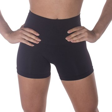 Calcinha Boxer Selene Redutora Sem Costura Feminina - Preto