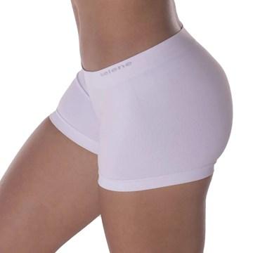 Calcinha Boxer Selene Sem Costura Feminina - Branco