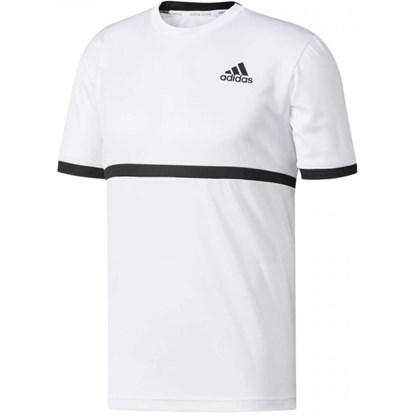 f125ddc94ab08 Camisa Adidas Court - Branco e Preto - Esporte Legal