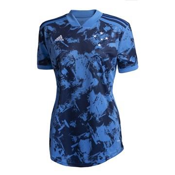 Camisa Adidas Cruzeiro Oficial III 2020/21 Feminina - Azul