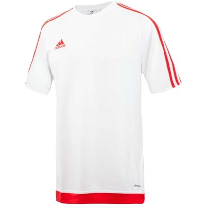 Camisa Adidas Estro 15 - Branco e Vermelho - Esporte Legal 1ffabf6501b5d